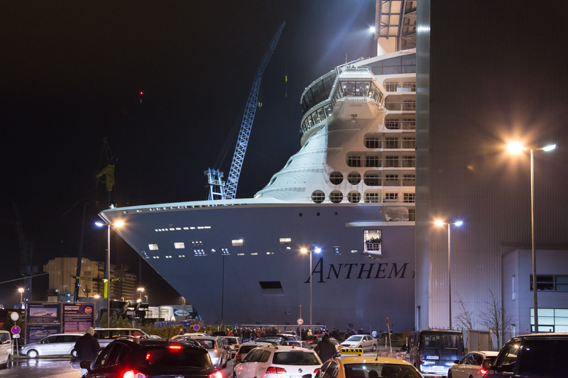 Ausdocken Anthem of the Seas