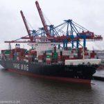 Containerschiff YM Wellness